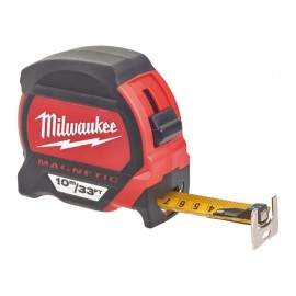 Milwaukee Hand Tools Premium Magnetic Tape Measure 10m/33ft (Width 27mm)