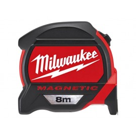 Milwaukee Hand Tools Premium Magnetic Tape 8m (Width 27mm) Metric Only Loose