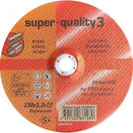 Premium Super Quality 3 Depressed MILD STEEL Cutting Disc 9 Inch (230mm x 3.2mm x 22mm)