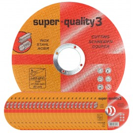 Premium Super Quality 3 Flat Stainless Steel Cutting Disc 4½ Inch (115mm x 1.0mm x 22mm) PACK OF 25