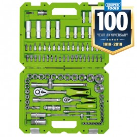 "Draper 1/4"" And 1/2"" Sq. Dr. Metric Tool Kit (100 Piece)"