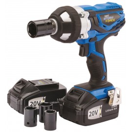 Draper Storm Force 1/2 Inch Cordless Impact Wrench (20v) With 2 Li-ion Batteries (3.0Ah)