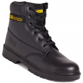 Apache Black 6 Eye Leather Safety Boot