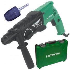 Hitachi DH24PX SDS Plus Rotary Hammer 730W + FREE Chuck / Adaptor
