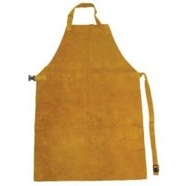 Gold Leather Kevlar Stitched Apron C/W Straps & Buckles