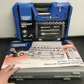 "Draper / EXPERT 1/2"" & 3/4"" Sq. Dr. MM/AF 12 Point Socket Set Ultimate Bundle (67 Piece)"