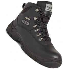 Sterling Steel Waterproof Safety Hiker Black Boot