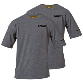 DeWalt Typhoon Charcoal Grey T-Shirt TWINPACK