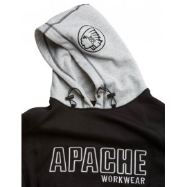 Apache Hooded Sweat Black Grey