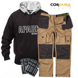 Apache Hoodie, Apache Cordura Workwear Trouser & Apache Knee Pads Bundle