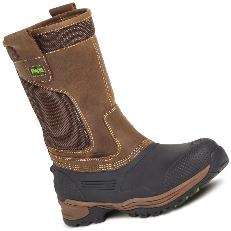 befc6ebc965 Apache Traction Waterproof Rigger Boot Brown