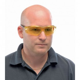 Draper Expert Anti-Mist Yellow Safety Spectacles with UV Protection to EN166 1 F Category 2