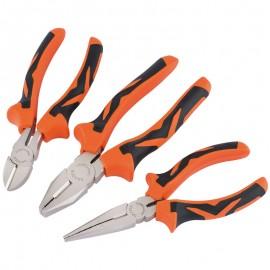 Draper Soft Grip Pliers Set (Orange) (3 piece)