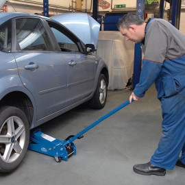 Draper 3 Tonne Heavy Duty Garage Trolley Jack with 'Quick Lift' Facility