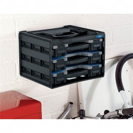 Draper 3 Tray Stacking Organiser Unit