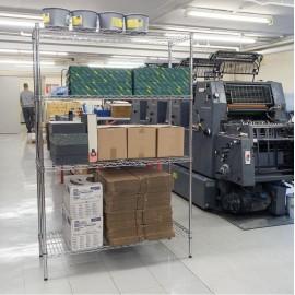 Draper Chrome Plated 4 Tier Steel Shelving Unit - 1200 x 450 x 1800mm