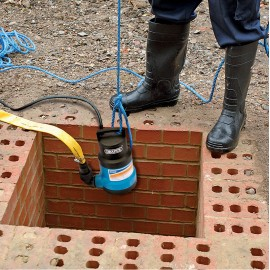 Draper Submersible Dirty Water Pump with Float Switch (200L/min)