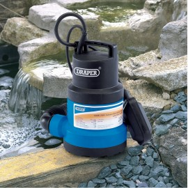 Draper Submersible Water Pump with Float Switch (108L/min)