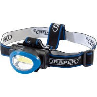 Draper 3W COB LED Head Lamp (3 x AAA batteries)
