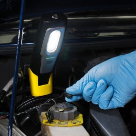 Draper Compact Inspection Lamp with Rechargeable 2W COB LED (Blue)