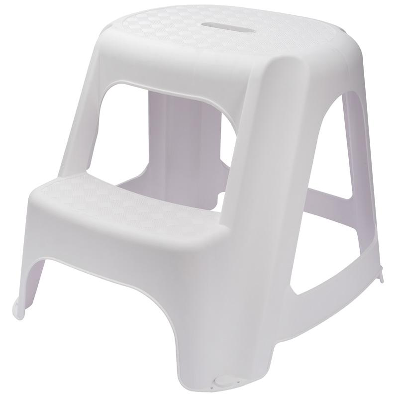 Draper White Plastic Two Step Stool
