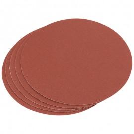 Draper Five 150mm Aluminium Oxide Sanding Discs (120 Grit)