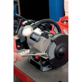 Draper 150mm 370W 230V Bench Grinder with Worklight