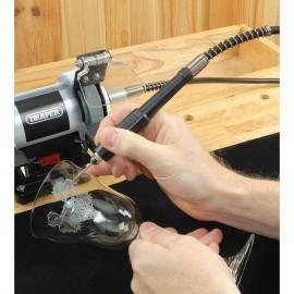 Draper 75mm 50W 230V Mini Bench Grinder with Flexible Drive Shaft
