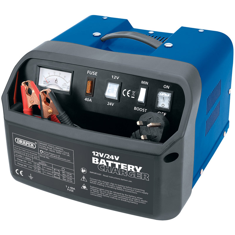 Draper BCD9 6//12V 8.4A Battery Charger