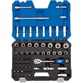 "Draper 1/2"" Sq. Dr. Metric Draper Expert Multi-Drive® Socket Set (60 piece)"