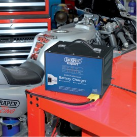 Draper Expert 12V Battery Charger with Constant Output Mode