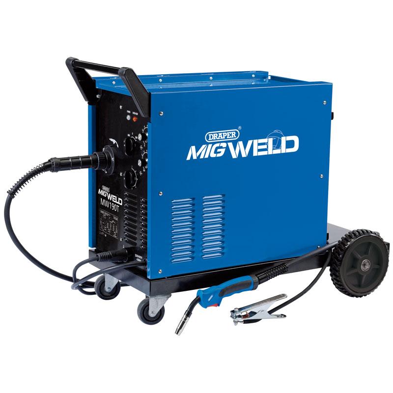 Draper 230/400V Gas/Gasless Turbo MIG Welder (180A)