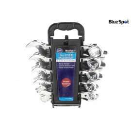 BlueSpot Tools Stubby Combination Spanner Set of 10 Metric 10 to 19mm