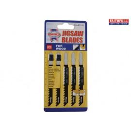 Faithfull Wood Jigsaw Blades Pack of 5 T111C