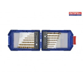 Faithfull Titanium Drill Bit Set 16 Piece 1-8mm
