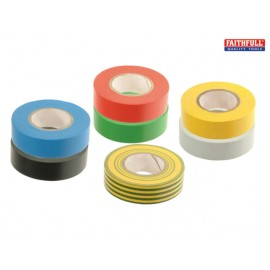 Faithfull PVC Electrical Tape Black 19mm x 20m
