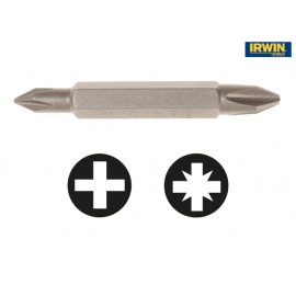 Irwin Tools Screwdriver Bits PH1 / PH2 Double Ended 50mm Pack of 2