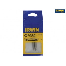 Irwin Tools Screwdriver Bits PZ2 / PZ2 Double Ended 50mm Pack of 2