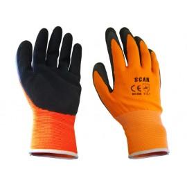 Scan Orange Foam Latex Coated Glove 13g - Large