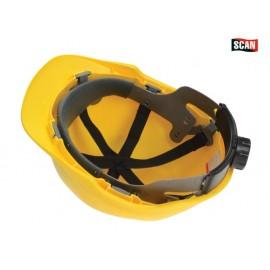 Scan Superior Safety Helmet Yellow Ratchet Adjustment