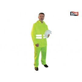 Scan Hi-Visibility Rain Suit, Yellow - L (39-42in)