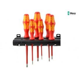 Wera Kraftform Plus VDE Screwdriver Set + Screw Grips Set of 6 SL/PH