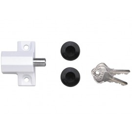 Yale P114 Patio Door Lock White Finish Visi-pack