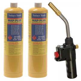 Faithfull Quick Pro Auto Power Torch CGA600 PLUS 2 x MAP Gas