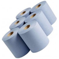 2 Ply Centre Feed Blue Cleanup Roll (6 Pack)