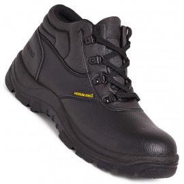 Sterling Steel Grain Leather Chukka Boot Black