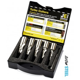 JEI Magnetic Cutters 5 Piece Set Plus Pilot Pin (SHORT SERIES)