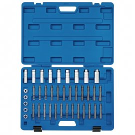 Blue Set of 19 Draper 64599 Wheel Bearing Removal and Service Tool Kit