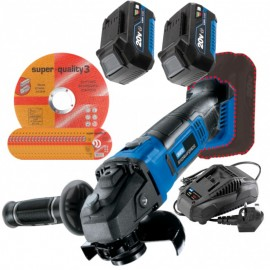 "Draper Storm Force® 20v 4½"" Angle Grinder with 2 x 4.0Ah Batteries + 25 x FREE 4½"" Cutting Discs + FREE Stormforce Bag!"