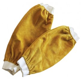 Gold Leather Sleeves Kevlar Stitched 18inch